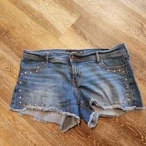 Hollister Midi Denim Jean Shorts